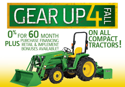 Gear Up 4 Fall Compact Tractor Offer from Premier Equipment