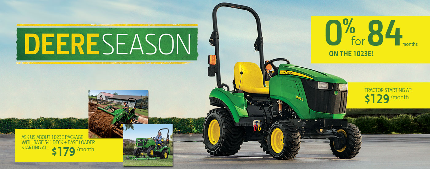 John Deere 1023E Deere Season Offer