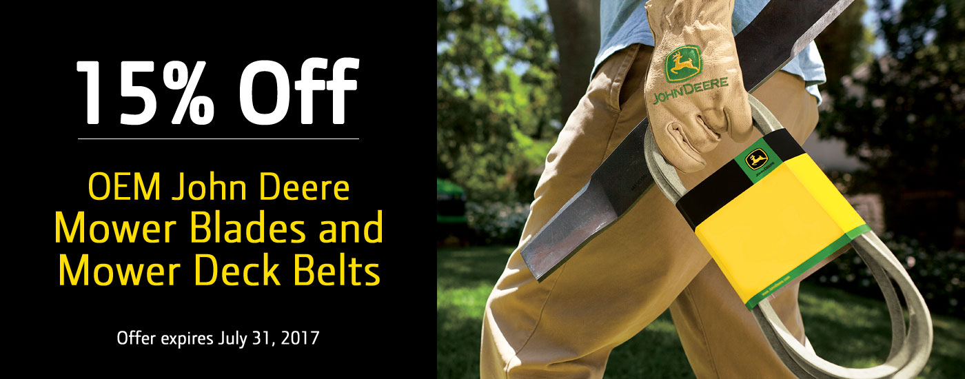 Premier Equipment 15 Percent off Belts and Blades Sale