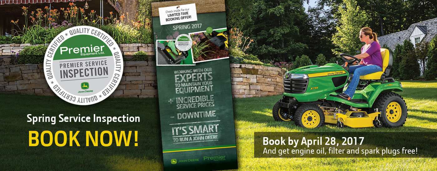 Premier Spring Lawn and Garden Booking Offer