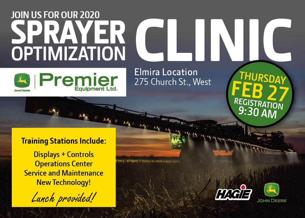 2020 Sprayer Optimization Clinic February 27th