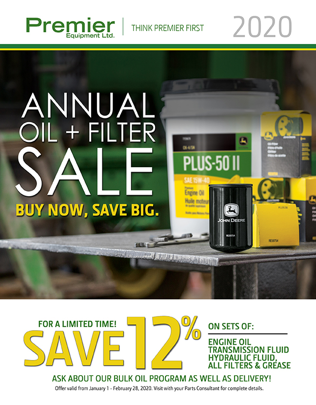 2020 Annual Oil and Filter Sale - Premier Equipment