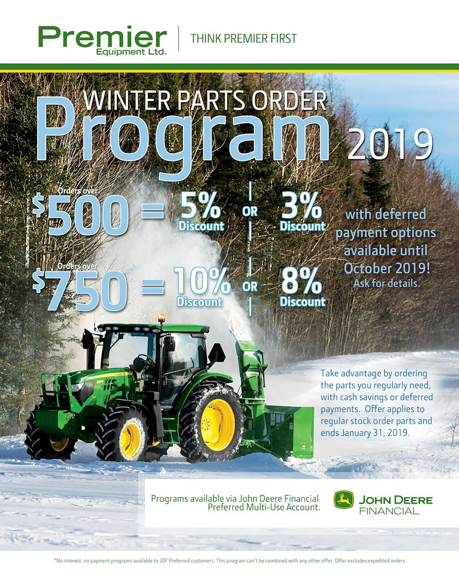 Winter Parts Order Program 2019