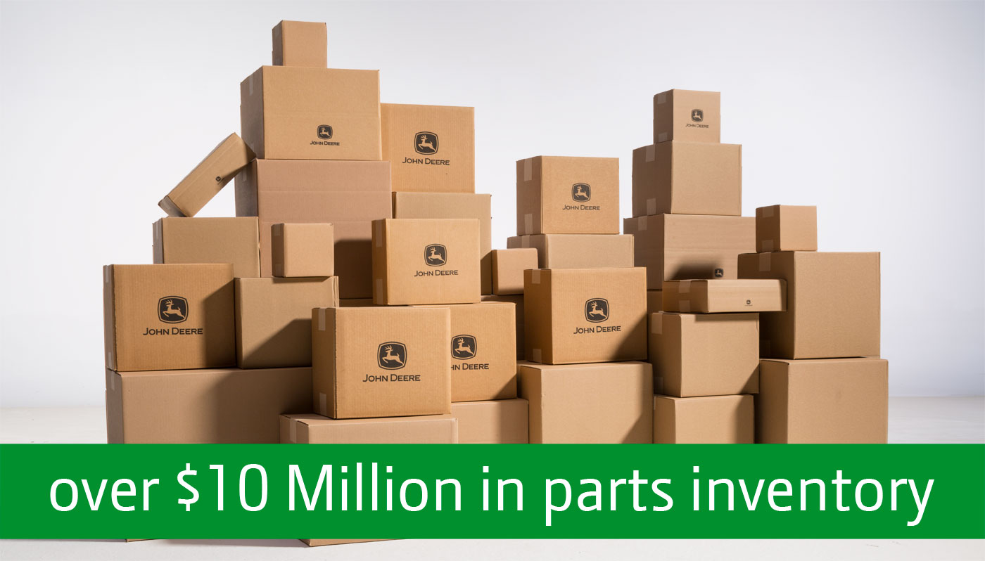 over $10 Million in parts inventory