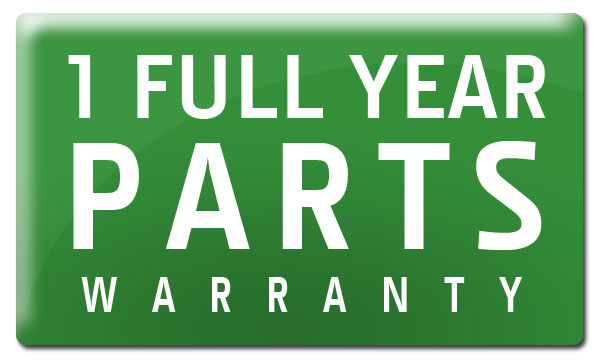 1 Full Year Parts Warranty