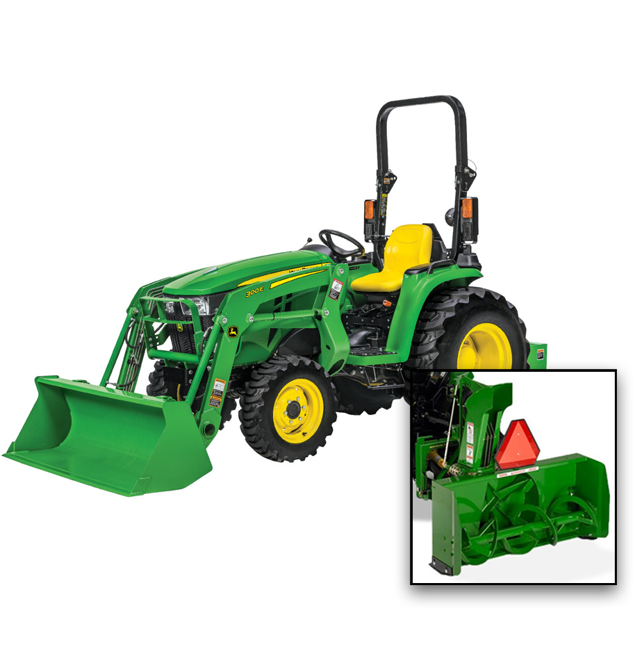 John Deere 3025E Snow Package