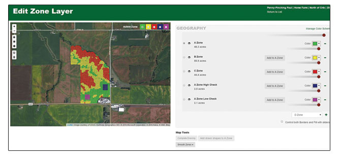 Integrated Solutions Agronomic Services Map